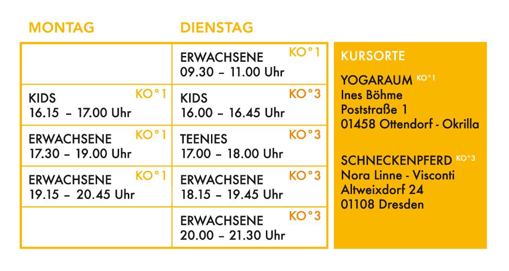 SOYODO; Kurszeitplan; 2019-07; Yoga in Ottendorf-Okrilla; Yoga in DD-Weixdorf